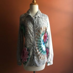 DESIGUAL White Mandalas Shirt L/M